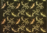 Botanic pattern - butterfly branch A