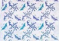 Botanic pattern - butterfly branch C