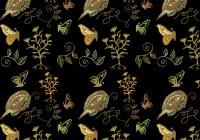 botanic Bird pattern design