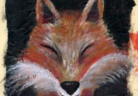 Fox painting - Volpe 2014