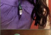 Green crystal wand