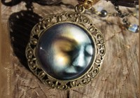 Lunar Light illustrated necklace