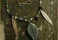 Leaf necklace night garden