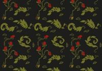 leaves Fern Rose pattern 03B
