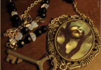 Lunar Light illustrated necklace