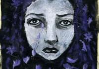 mauve Tears - original painting 2014
