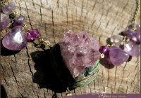 Crystal memory Amethyst necklace