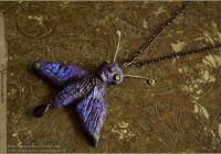 Purple Moth pendant