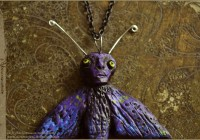 Purple Moth pendant