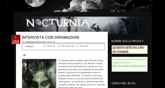 Interview on Nocturnia blog