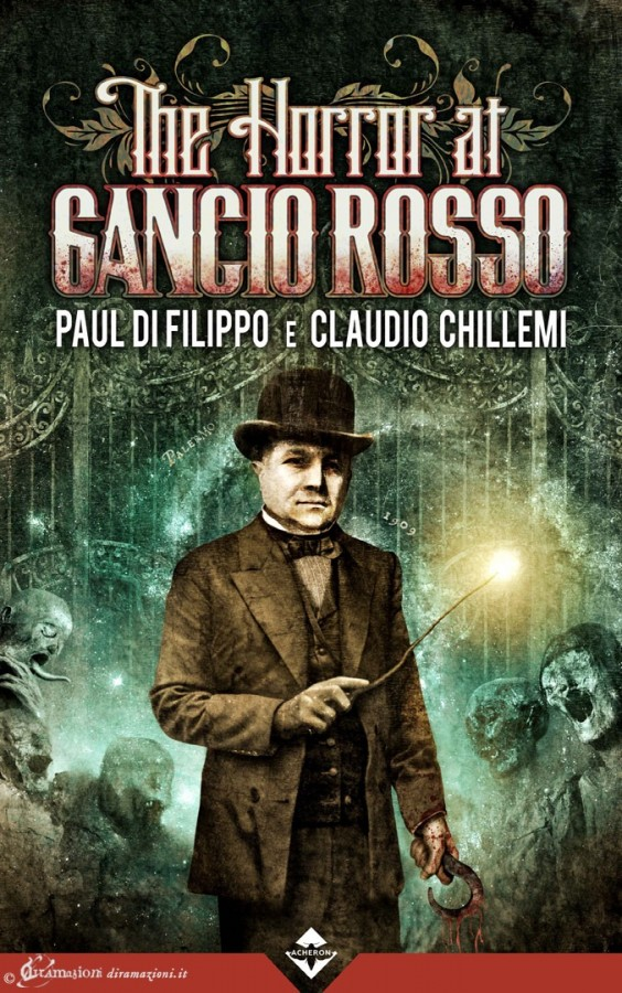 "Cover illustration and design for ""The Horror at Gancio Rosso"", Acheron Books."