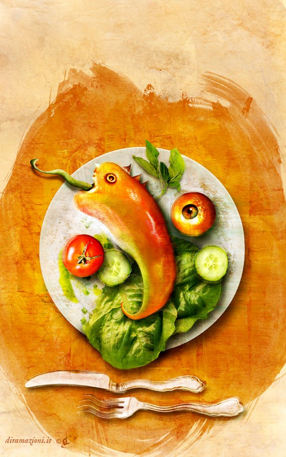 """Cover illustration and design for """"Italian Way of Cooking"""" by Marco Cardone, Acheron Books."""