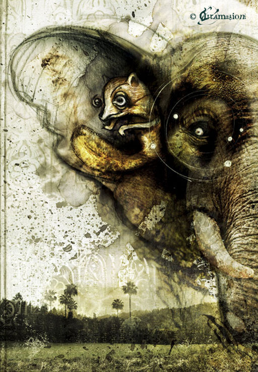 Crazy elephant - Illustrations for the contest -Tasca di pietra - 2008 - illustration and photography: Voci and Try